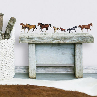 Wild Horses Wall Decals roomset 2
