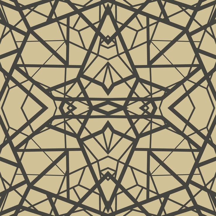 Shattered Geometric Peel and Stick Wallpaper black
