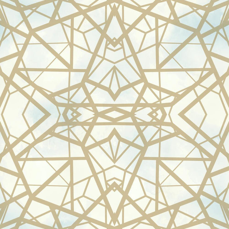Shattered Geometric Peel and Stick Wallpaper sky roomset