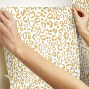Leopard Peel And Stick Wallpaper hang
