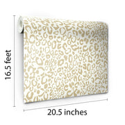 Leopard Peel And Stick Wallpaper roll
