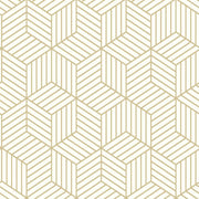 Striped Hexagon Peel and Stick Wallpaper gold