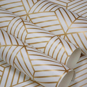 Striped Hexagon Peel and Stick Wallpaper gold other