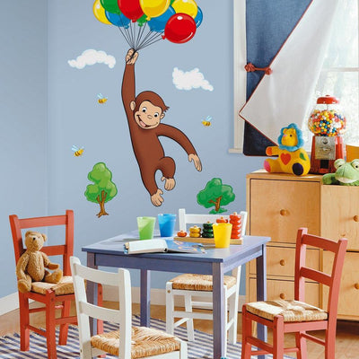 Curious George Giant Wall Decal roomset