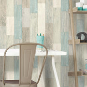 RMK10840WP Blue Weathered Wood Peel And Stick Wallpaper RS2