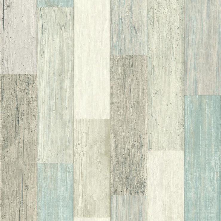 RMK10840WP Blue Weathered Wood Peel And Stick Wallpaper