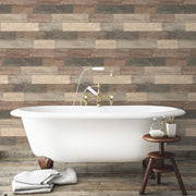RMK10841WP Brown Weathered Wood Plank Peel And Stick Wallpaper RS4