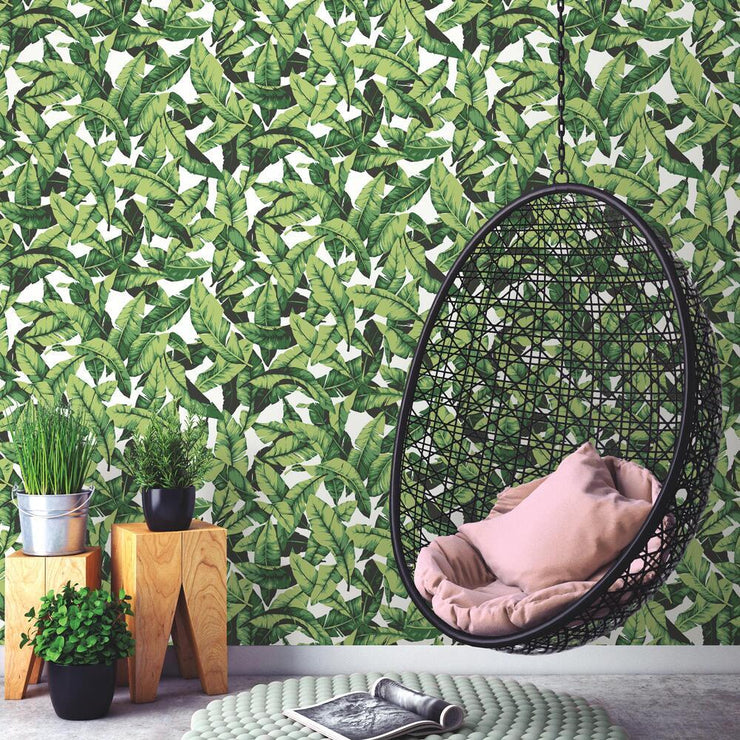 Palm Peel and Stick Wallpaper green roomset