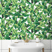 Palm Peel and Stick Wallpaper green roomset 2