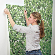 Palm Peel and Stick Wallpaper green hang