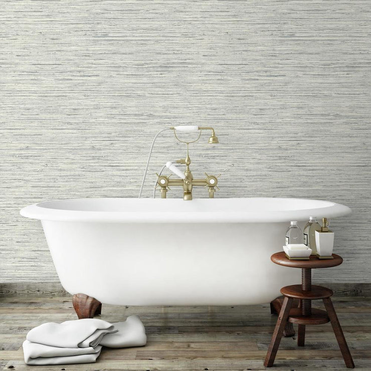 RMK11078WP Gray Grasscloth Peel And Stick Wallpaper RS2