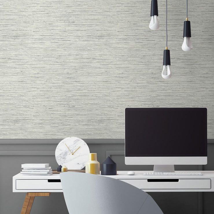 RMK11078WP Gray Grasscloth Peel And Stick Wallpaper RS3