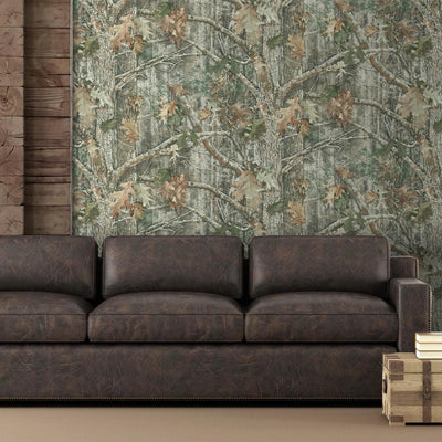 Kanati Camo Peel and Stick Wallpaper roomset 3