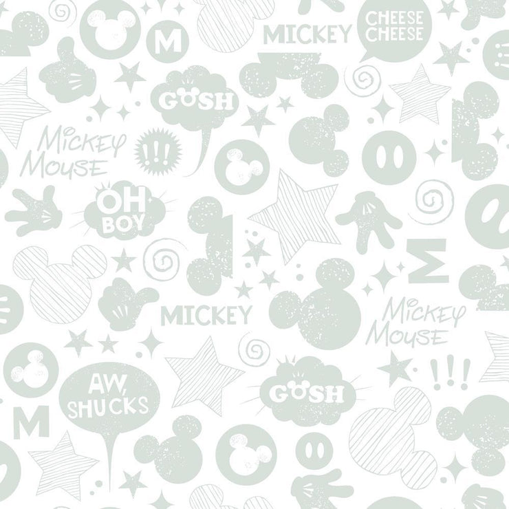 Disney Mickey Mouse Icons Peel and Stick Wallpaper