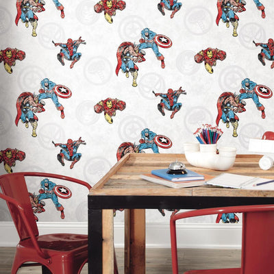 Marvel Comics Classic Peel & Stick Wallpaper roomset