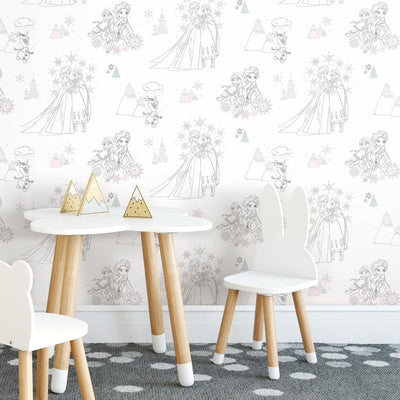 RMK11169RL Disney Frozen Peel And Stick Wallpaper