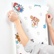 Paw Patrol Peel and Stick Wallpaper roomset hang 2
