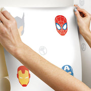 Avengers Character Spot Peel and Stick Wallpaper hang