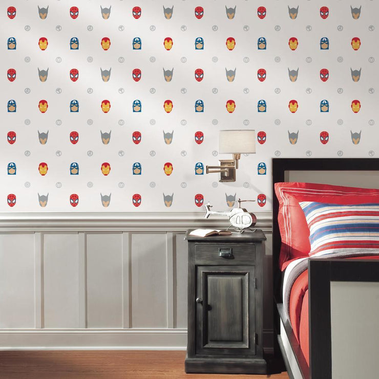 Avengers Character Spot Peel and Stick Wallpaper roomset