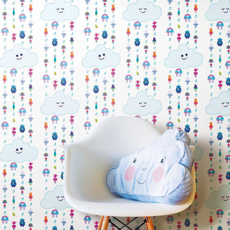 Trolls Clouds Peel and Stick Wallpaper roomset 4