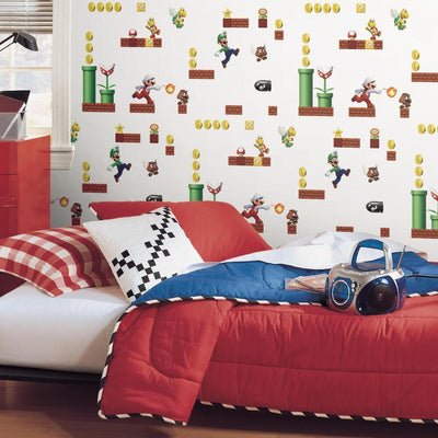 Super Mario Peel and Stick Wallpaper roomset 4