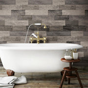 RMK11210WP Black Weathered Wood Plank Peel And Stick Wallpaper RS4