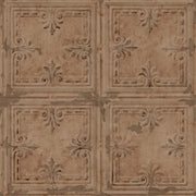 Tin Tile Peel and Stick Wallpaper copper