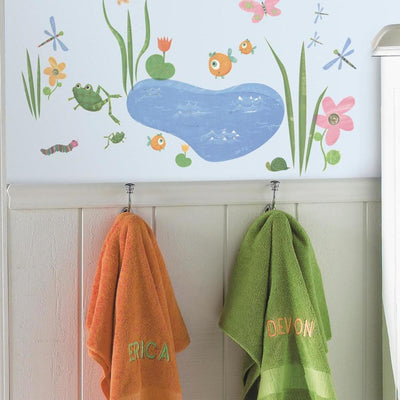 Hoppy Pond Wall Decals roomset