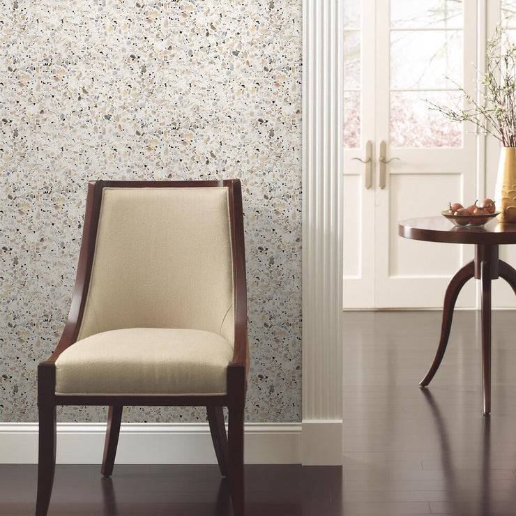 Terrazzo Peel and Stick Wallpaper multicolor roomset 4