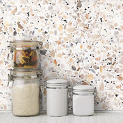 Terrazzo Peel and Stick Wallpaper multicolor roomset 2