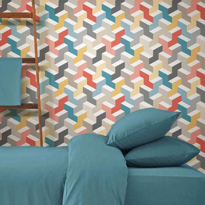 3D Steps Peel and Stick Wallpaper roomset