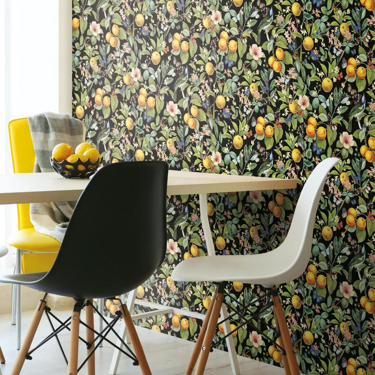 Citrus Peel and Stick Wallpaper roomset