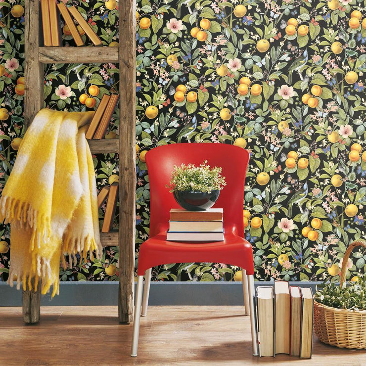 Citrus Peel and Stick Wallpaper roomset 2