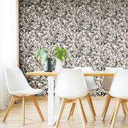 Palm Peel and Stick Wallpaper tan roomset 2