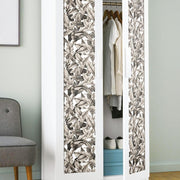 Palm Peel and Stick Wallpaper tan roomset 4