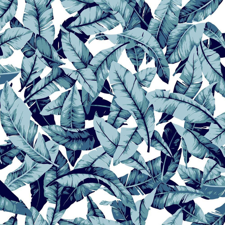 Palm Peel and Stick Wallpaper blue