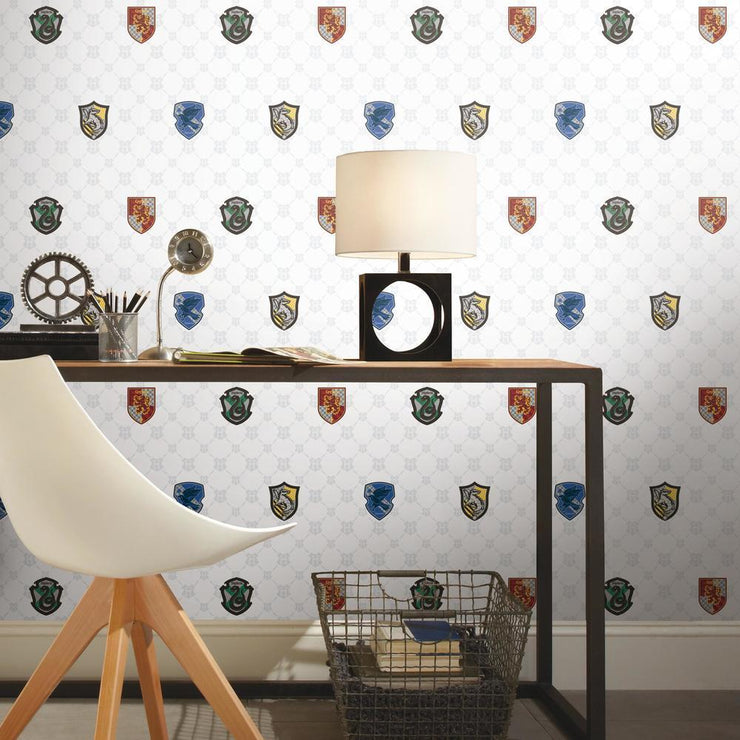 Harry Potter House Crest Peel and Stick Wallpaper roomset 4