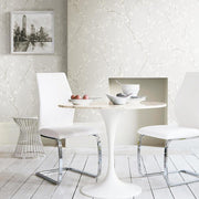 Cherry Blossom Peel and Stick Wallpaper gray roomset 4