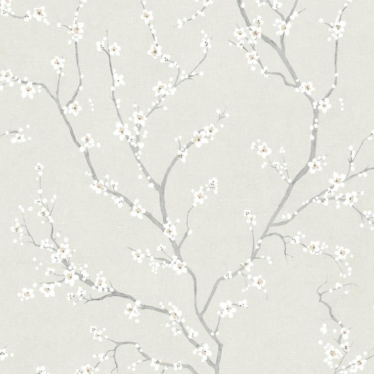 Cherry Blossom Peel and Stick Wallpaper beige
