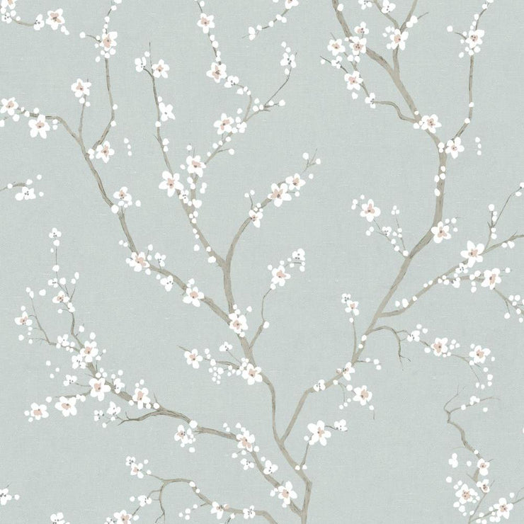Cherry Blossom Peel and Stick Wallpaper blue