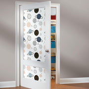 Planets Peel and Stick Wallpaper tan roomset 4