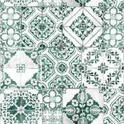 Mediterranean Tile Peel and Stick Wallpaper teal