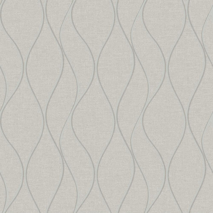 Wave Ogee Peel and Stick Wallpaper beige