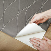 Wave Ogee Peel and Stick Wallpaper gray peel