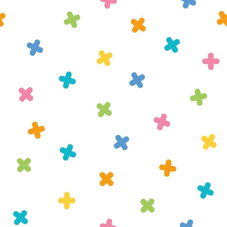 X Marks the Spot Peel and Stick Wallpaper multicolor