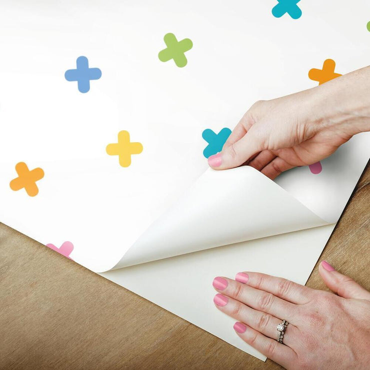 X Marks the Spot Peel and Stick Wallpaper multicolor peel