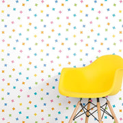X Marks the Spot Peel and Stick Wallpaper multicolor roomset