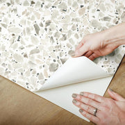 Terrazzo Peel and Stick Wallpaper black peel