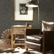 RMK11313WP Dark Gray Grasscloth Peel And Stick Wallpaper RS2