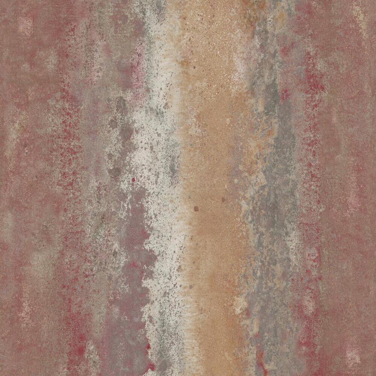 Oxidized Metal Peel and Stick Wallpaper red